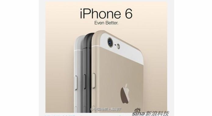iPhone 6 aparece em imagem de site chinês (Foto: Reprodução/China Telecom)