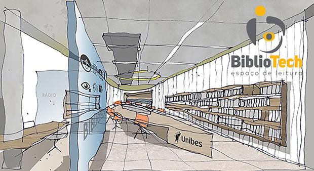 bibliotech-unibes-cultural-croqui (Foto: Divulgação)