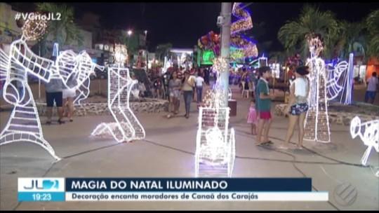 Trabalho de artesãos dá vida à decoração de Natal em Canaã dos Carajás