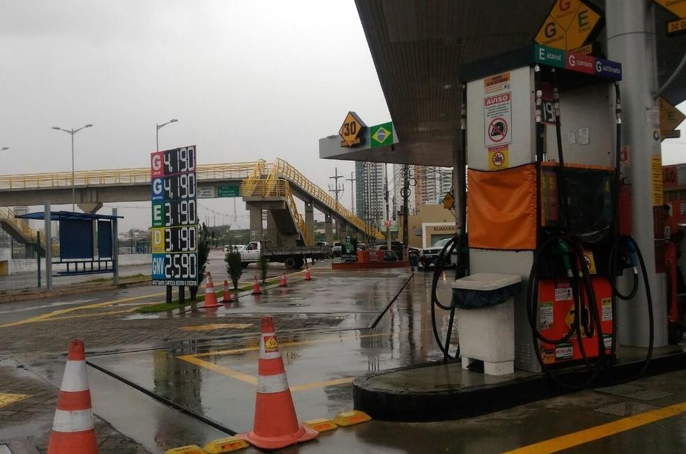 Após o reajuste, gasolina chega a R$ 4,19 em Natal (Foto: Fernanda Zauli/G1)