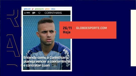 """Jornalistas falam de interesse do Corinthians em Luan e elogiam: """"Tem potencial para ser ídolo"""""""
