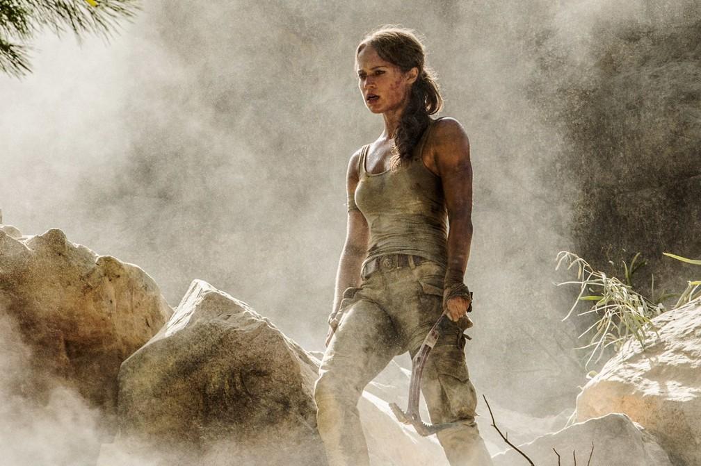 Alicia Vikander interpreta Lara Croft em 'Tomb Raider: A origem' (Foto: Divulgação)