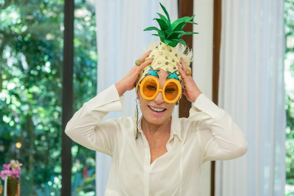 E que tal o look à moda abacaxi? — Foto: Artur Meninea/Gshow
