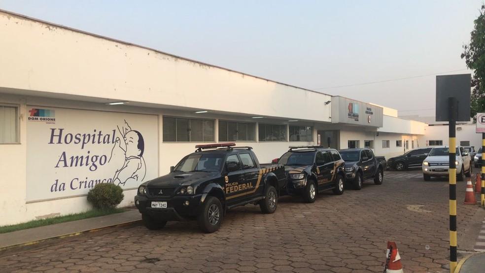 Polícia Federal cumpre mandado de prisão em hospital de Araguaína (Foto: Lívia Campos/TV Anhanguera)