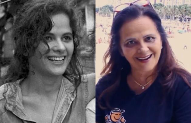 Denise Milfont interpretou a sonhadora Juana, irmã de Tancinha (Claudia Raia), Jorge Miguel (Edson Celulari) e Isabel (Angelina Muniz). Ela está longe da TV desde 'O outro lado do paraíso' (Foto: Reprodução)