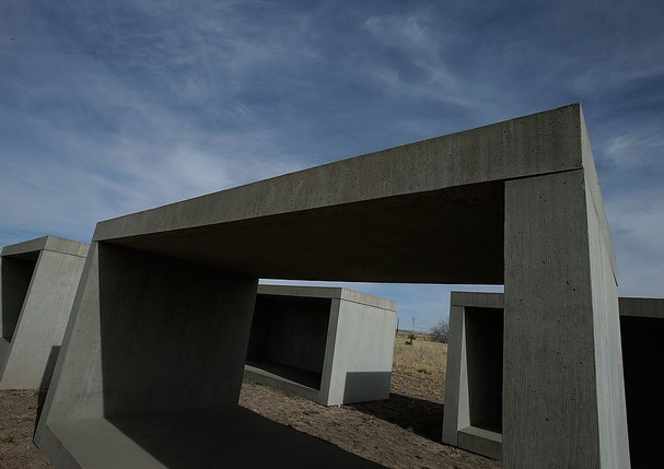 Donald Judd, em Marfa (Foto: Getty Images)