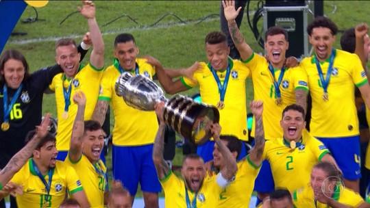 Everton Cebolinha e Richarlison se destacaram na trajetória da Seleção até o título