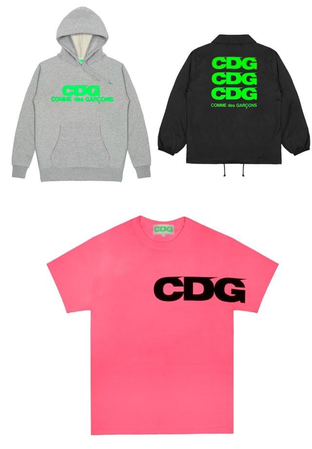 Peças da coleção cápsula CDG Breaking News, parte da nova linha da marca, CDG (Foto: Divulgação - WWD)