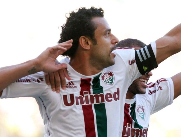 Fred comemora, Fluminense x Flamengo (Foto: Ricardo Ayres/Photocamera)