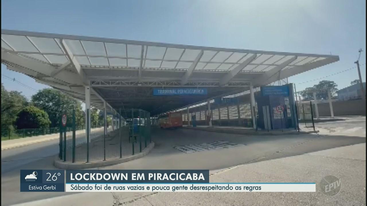 Primeiro dia de regras que restringem circulação em Piracicaba tem ruas vazias