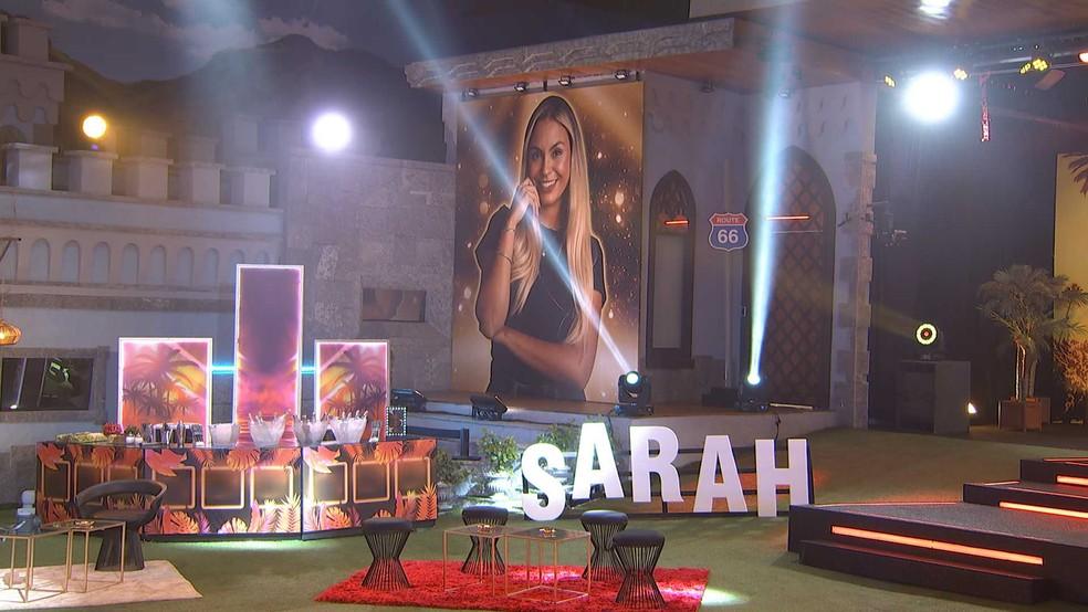 Começa a Festa Los Angeles da Líder Sarah no BBB21 — Foto: Globo
