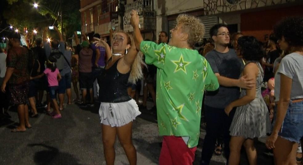 Público do Auto do Círio se anima com danças, música e festejos. — Foto: Reprodução / TV Liberal