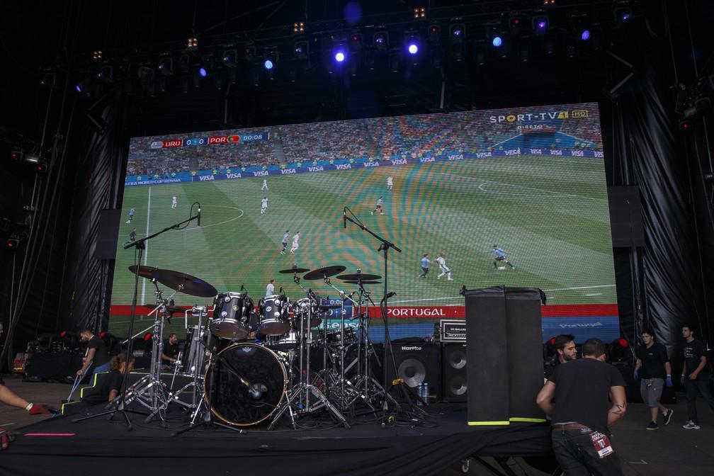Jogo de Portugal contra o Uruguai válido pela Copa do Mundo da Rússia é transmitido durante o Rock in Rio Lisboa  (Foto: Divulgação)