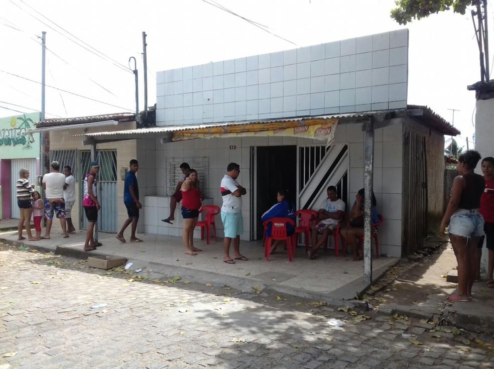 Bar de Francisco das Chagas Ferreira do Nascimento, morto durante atentado em festa de Natal (Foto: Ediana Miralha/ Inter TV Cabugi)