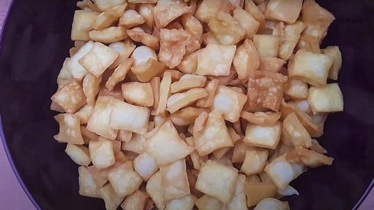 Receita caseira de salgadinho petisco de queijo