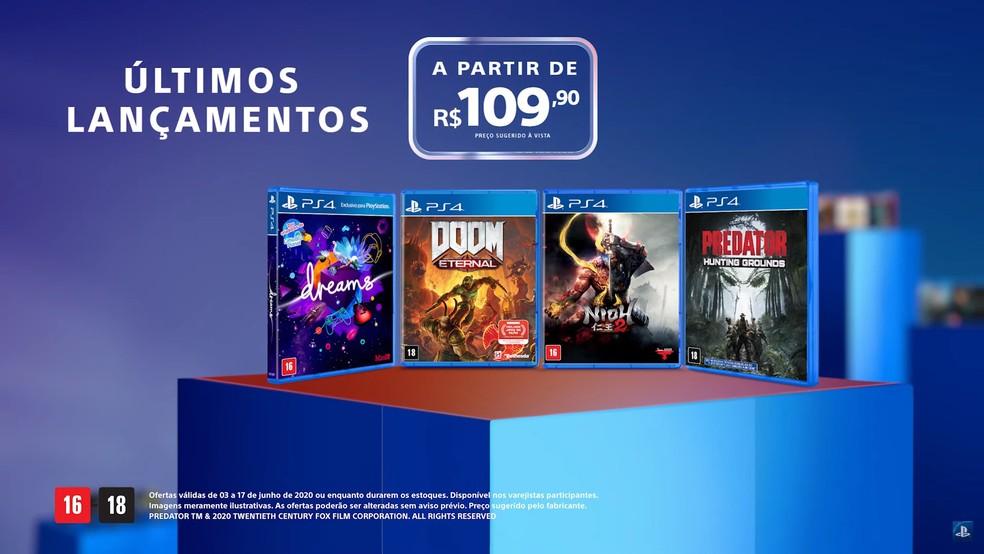 Vários lançamentos estarão com preços promocionais em Days of Play 2020 — Foto: Reprodução/PlayStation