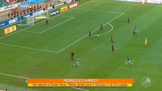 Vitória x Guarani: reestreando na Fonte Nova, o time rubro negro vai mal e perde por 1 x 0