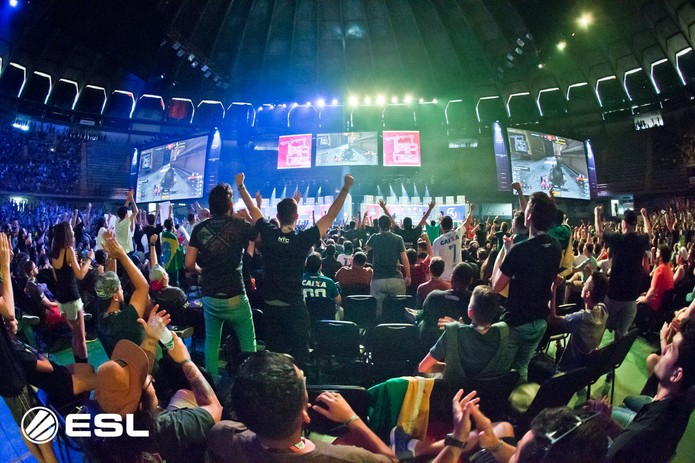Mineirinho lotado durante a ESL One Belo Horizonte em 2018 — Foto: Divulgação / ESL