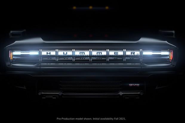 Um vídeo teaser antecipa a parte frontal do Hummer (Foto: Divulgação)