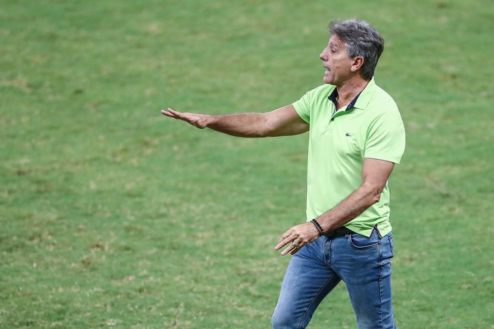 Renato Gaúcho em empate do Grêmio com o Ceará — Foto: Lucas Uebel/Grêmio
