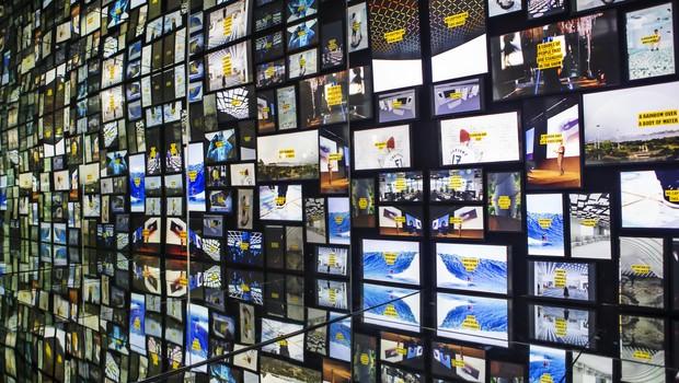 Visitantes podem ver suas publicações do Instagram no Museum Me, no Centro Cultural do Banco do Brasil, com patrocínio da Accenture (Foto: Divulgação)