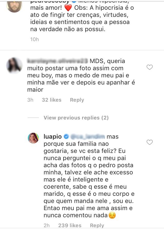 """""""Menos hipocrisia, mais amor!"""", escreveu Pedro Scooby em foto com Luana Piovani (Foto: Reprodução / Instagram)"""
