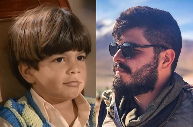 Pedro Agum em 'Era uma vez...' e hoje em dia (Foto: TV Globo / Reprodução Instagram)