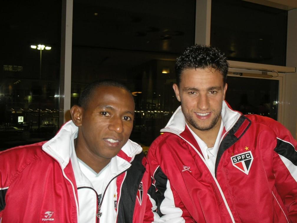 Mineiro e Alex Bruno em foto feita por Souza — Foto: Arquivo pessoal Souza