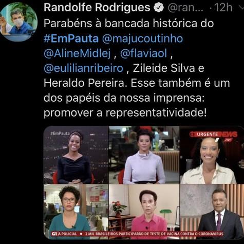 O senador Randolfe Rodrigues também comentou o assunto nas suas redes sociais (Foto: reprodução/ Twitter)