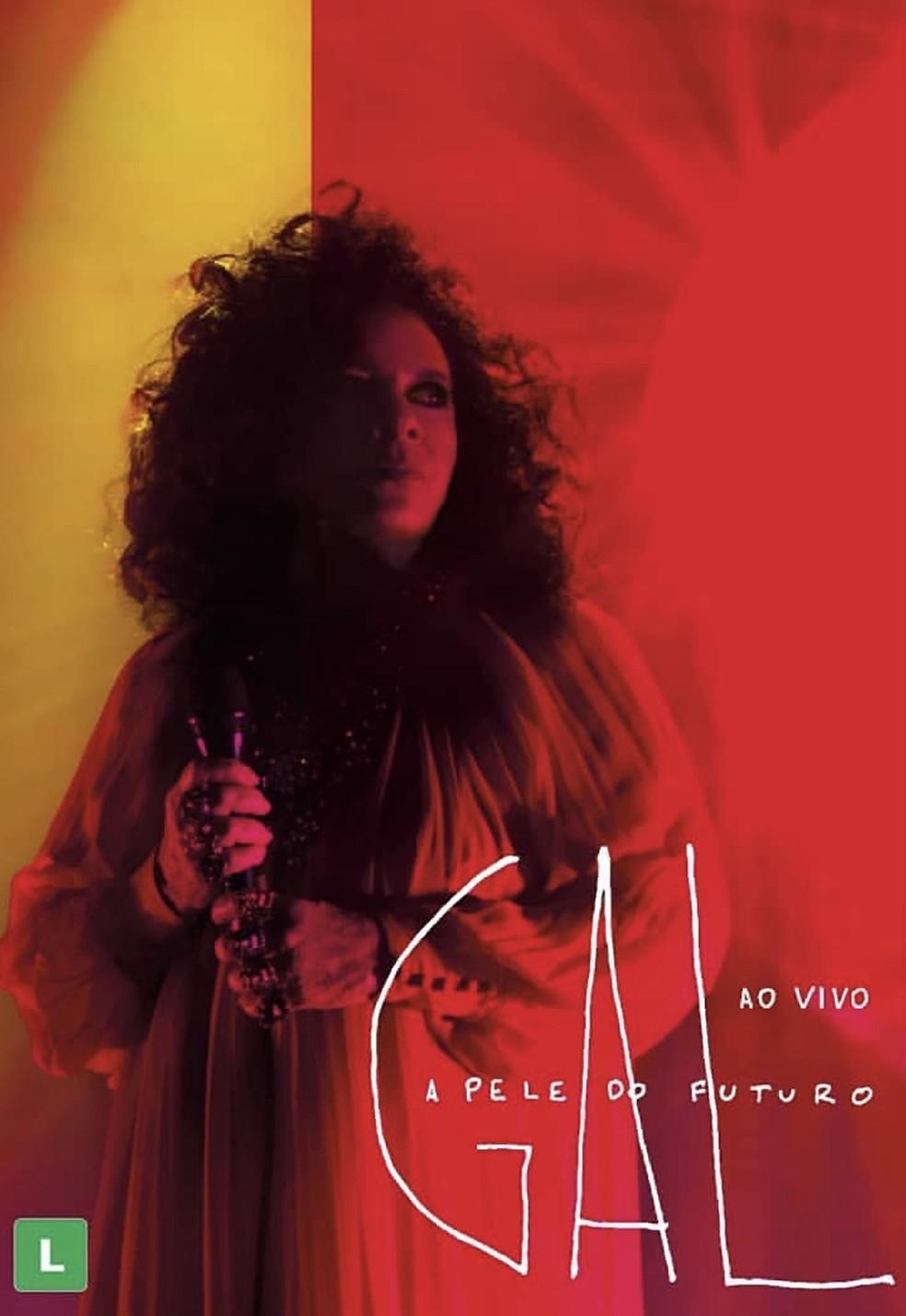 Capa do DVD 'A pele do futuro ao vivo', de Gal Costa — Foto: Marcos Hermes com arte de Omar Salomão