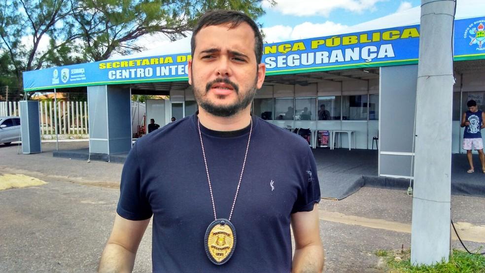 Delegado Everton Ferrer, do Departamento de Policiamento do Interior (Foto: Ellyo Teixeira, G1 PI)