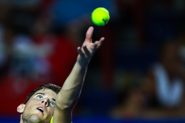 Dominic Thiem durante o Aberto do México, em 2018 (Foto: Getty Images/ Hector Vivas)
