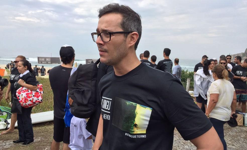 Primo do policial, Gabriel defende que o Legislativo se posicione em relação à crescente violência contra policiais no Rio de Janeiro (Foto: Matheus Rodrigues/G1)