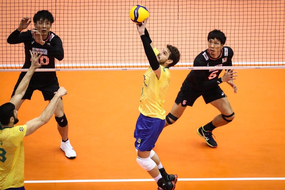Bruninho levantador de vôlei na Copa do Mundo de vôlei  — Foto: Divulgação/FIVB