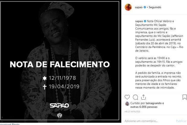 MC Sapão (Foto: Reprodução/Instagram )