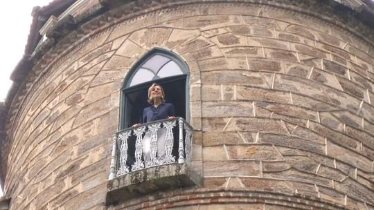 Teresa Freitas conheceu um castelo em Paulo de Frontin, neste sábado (01)