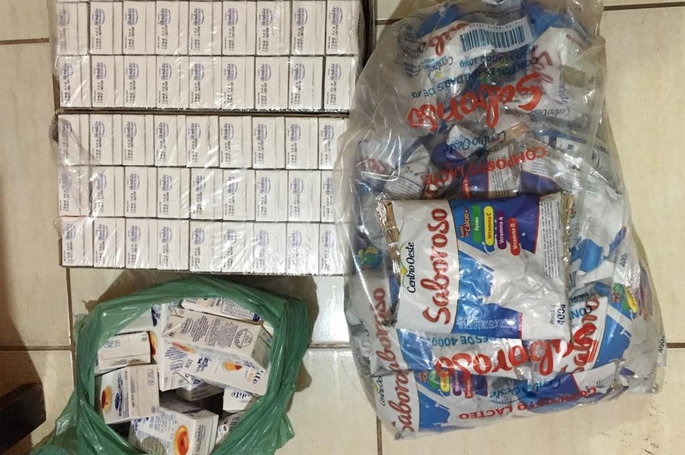 Parte de carga roubada encontrada com detido em Monte Alegre de Minas — Foto: Polícia Civil/ Divulgação