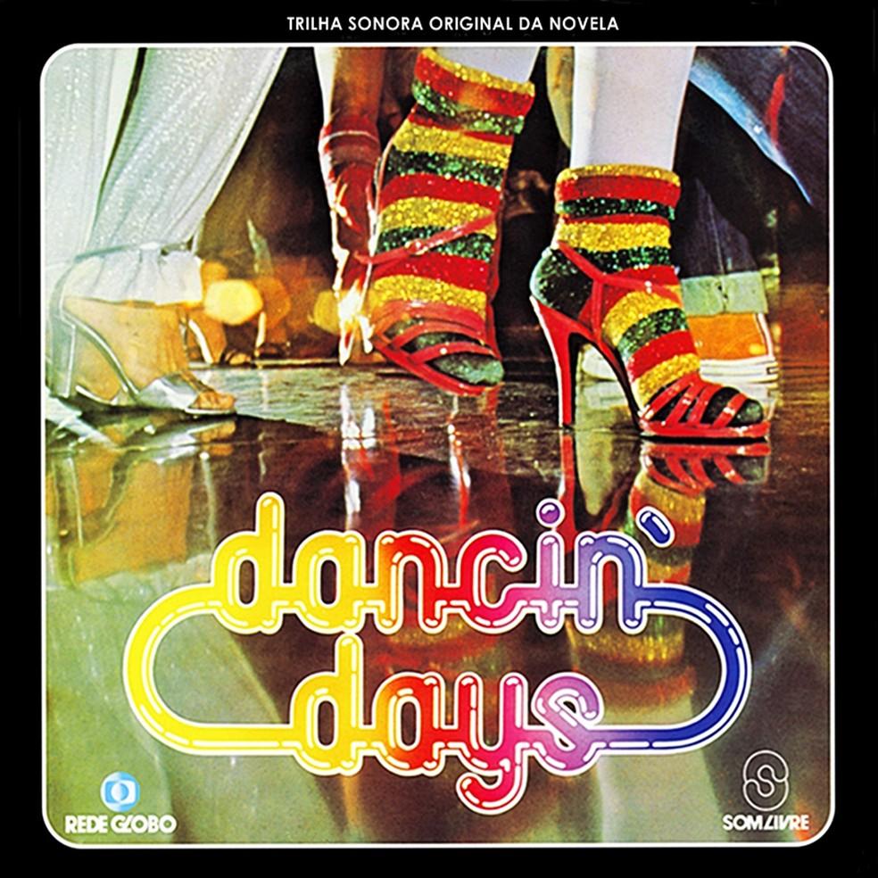 Capa do disco com a trilha sonora nacional da novela 'Dancin' days', exibida em 1978 pela TV Globo — Foto: Reprodução