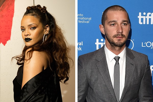 Rihanna e Shia LaBeouf (Foto: Getty Images)