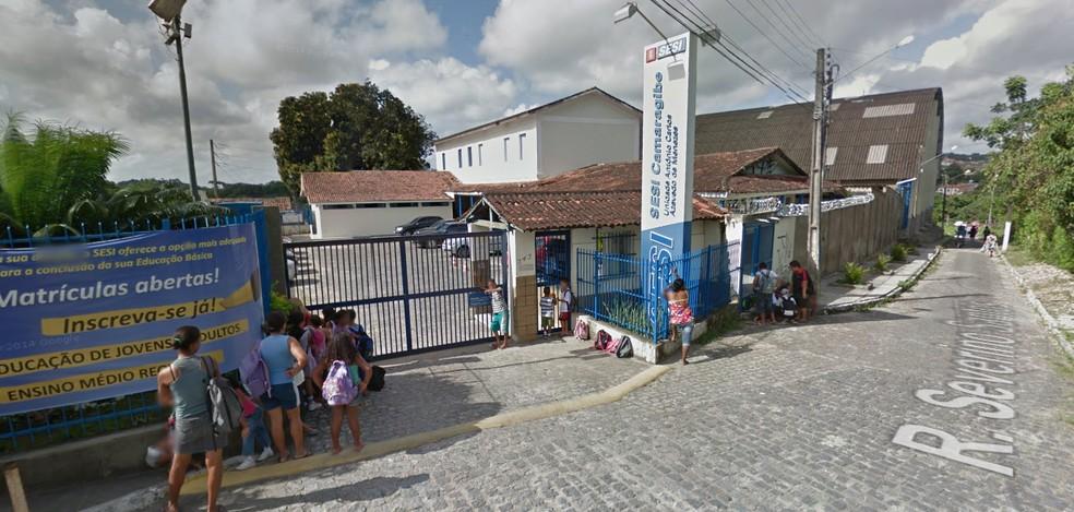 Sesi Camaragibe é a primeira unidade a oferecer os exames  (Foto: Reprodução/Google Street View)