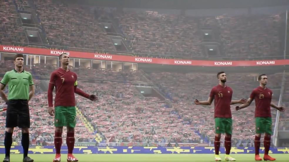 Bug de jogadores desaparecidos no eFootball 2022 — Foto: Reprodução