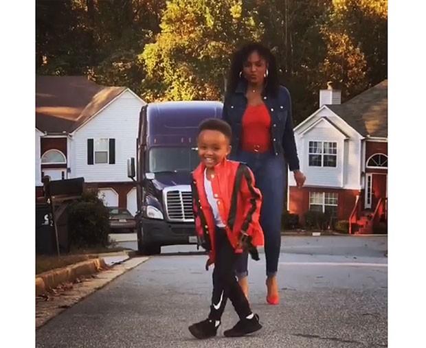 Angelica e Robert no remake de Thriller para comemorar o Halloween (Foto: Reprodução / Instagram)