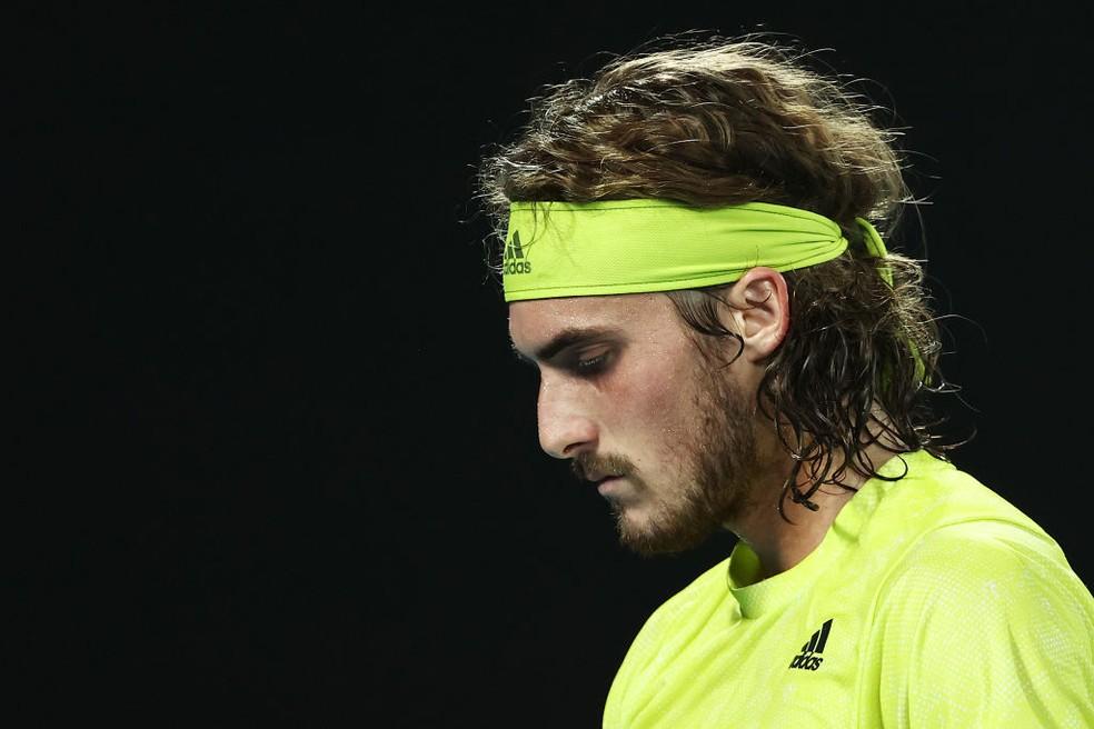 Stefanos Tsitsipas contra Nadal no Australian Open — Foto:  Cameron Spencer /Getty Images