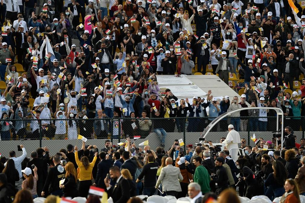 Papa conclui visita ao Iraque com missa para milhares de fiéis | Mundo | G1
