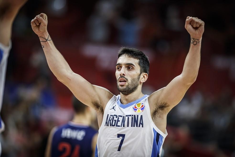 Facundo Campazzo é o grande craque da seleção argentina — Foto: Divulgação/FIBA