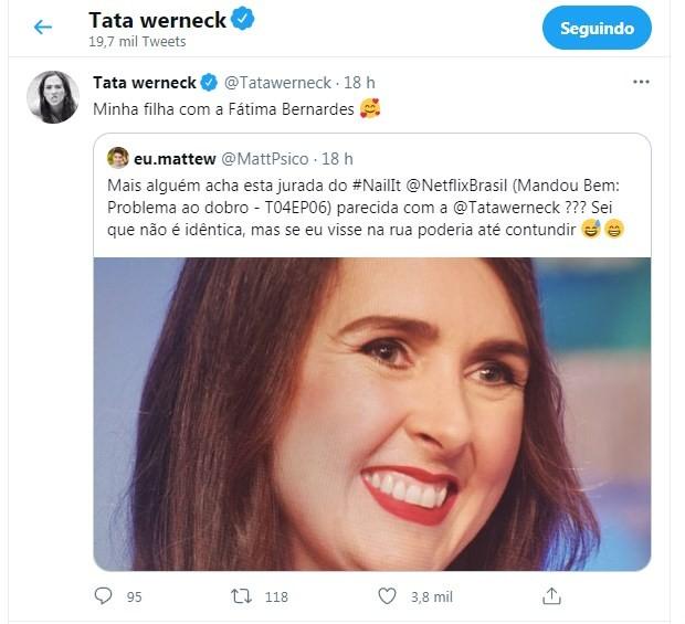 Post de Tatá Werneck (Foto: Reprodução/Twitter)
