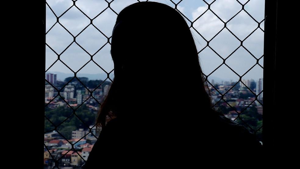Vítima de violência doméstica em São Paulo — Foto: GloboNews/Reprodução