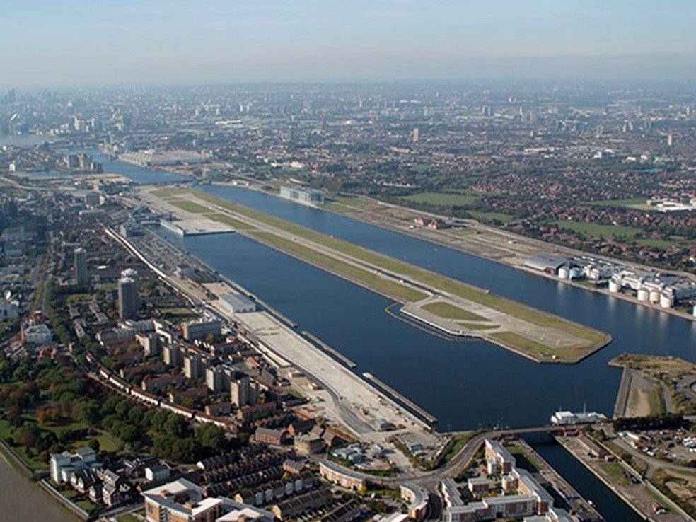 London City Airport, aeroporto na Inglaterra (Foto: PrivateFly/Divulgação)