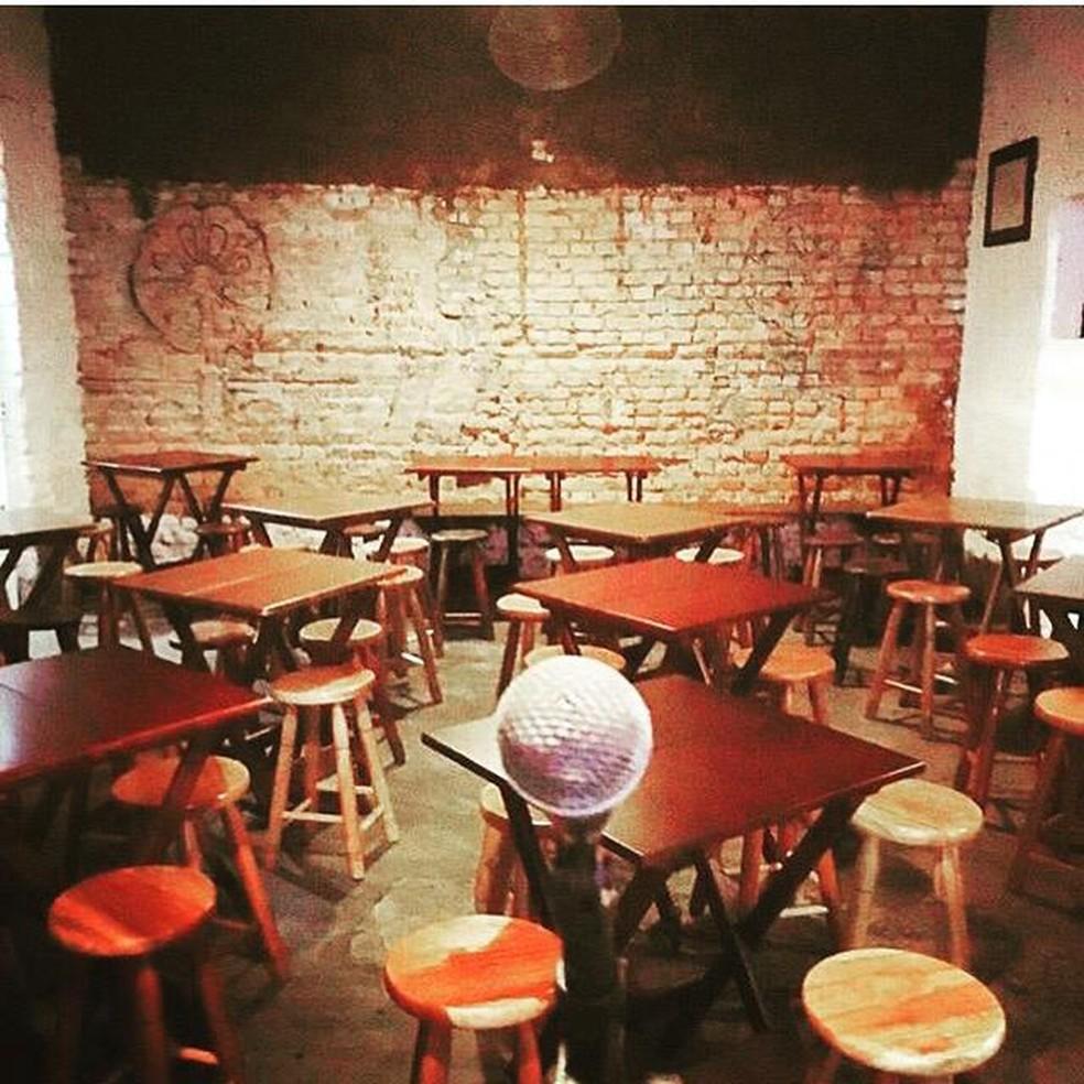 O salão vazio do bar Ó do Borogodó, em Pinheiros, na Zona Oeste de São Paulo — Foto: Arquivo pessoal/Divulgação