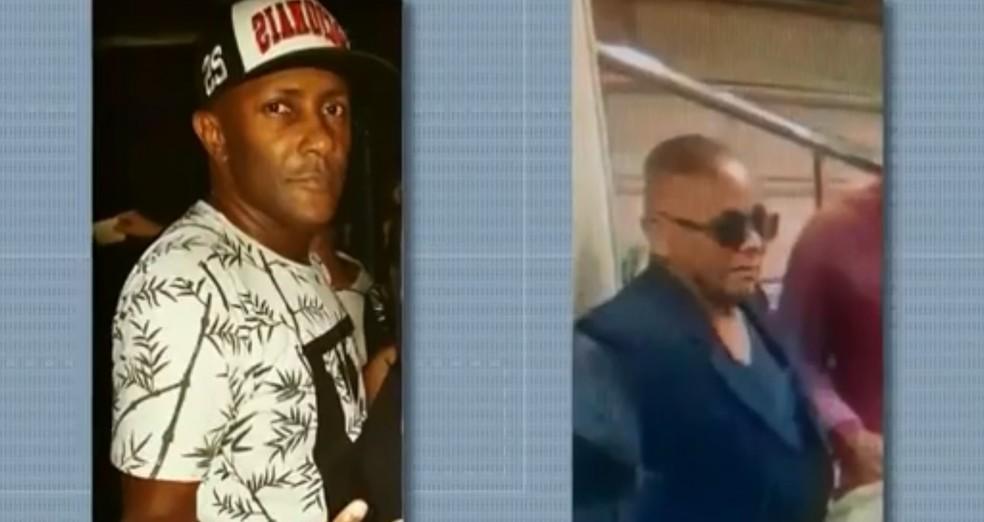 Antônio Carlos, à esquerda, foi confundido com o suspeito do crime, à direita, segundo a família (Foto: Reprodução/TV Globo)